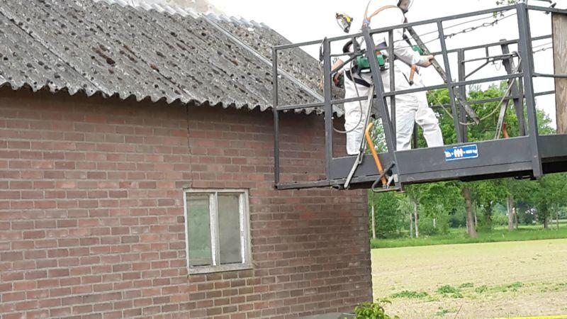 Dak Garage Vervangen : Veldhorst aannemer asbest dak vervangen